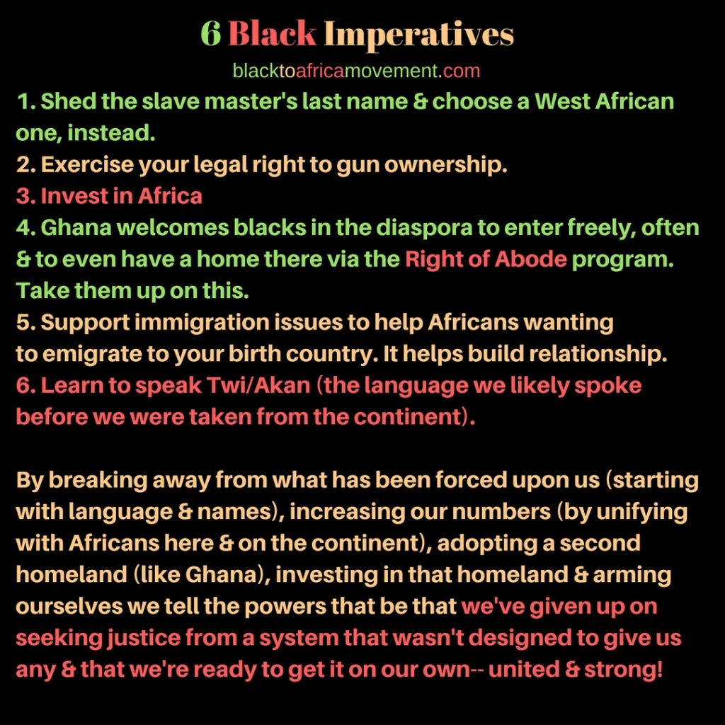 Black Imperatives - Back to Africa Movement